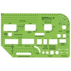 "Office Planning 1/4"" Scale Template"