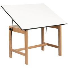 "Alvin Titan Solid Oak Table Oak Finish 37 1/2"" x 60"" x 30"""