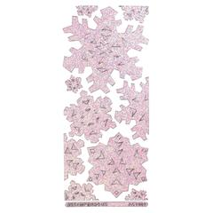 Image Outline Sticker Jumbo Snowflakes Clear Crystal