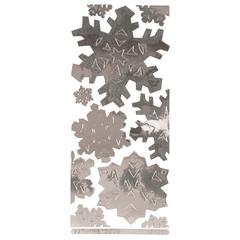 Class A' Peels Image Outline Sticker Jumbo Snowflakes Mirror Silver