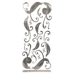 Class A' Peels Image Outline Sticker Super Swirl Mirror Silver