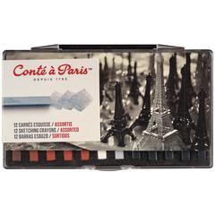 Conté Crayon 12-Color Classic Set