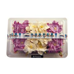 Dimensional Paper Flowers Lilac/White