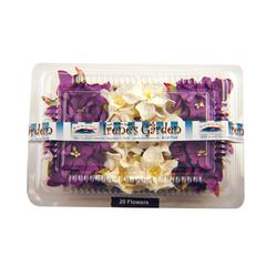 Dimensional Paper Flowers Dark Purple/White