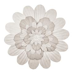 Handmade Paper Stacked Flowers White