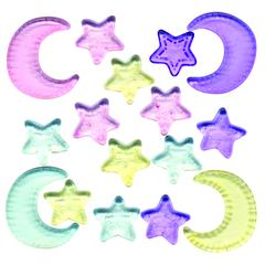 Buttons Galore & More Clear Buttons Moon & Stars