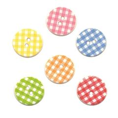 Buttons Galore & More Themed Button Pack Round Plaid
