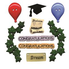 Flat-back Buttons Theme Pack Graduation