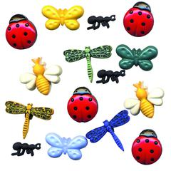 Buttons Galore & More Themed Button Pack Summer Bug