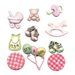Buttons Galore & More Themed Button Pack Baby Girl