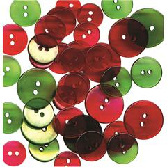 Clear Buttons Christmas Rounds
