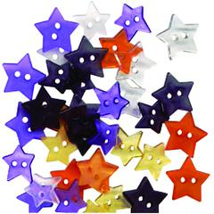 Buttons Galore & More Clear Buttons Hocus Pocus Stars
