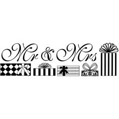 Clearsnap Design Adhesive Mr. & Mrs.