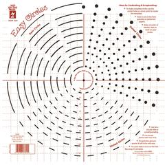 "12"" x 12"" Papercrafing Template Easy Circles"
