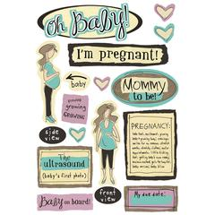 Cardstock Sticker Mother To Be