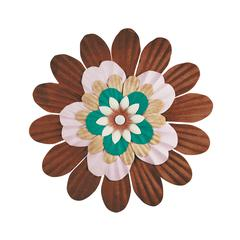 Handmade Paper Stacked Flowers Brown