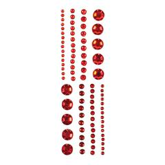 Adhesive Gems Red