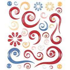 Epoxy Swirl Stickers Red