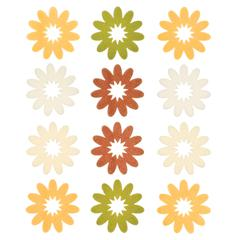 Flocked Daisy Stickers Yellow