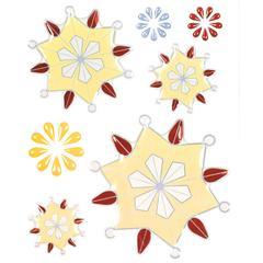 Epoxy Snowflower Stickers Yellow