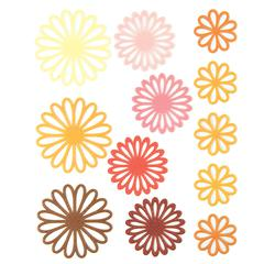 Gel Outline Daisy Stickers Yellow