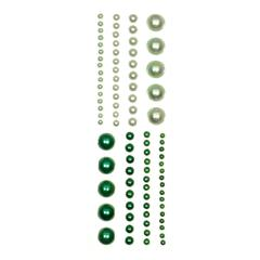 Blue Hills Studio ColorStories Adhesive Pearls Green