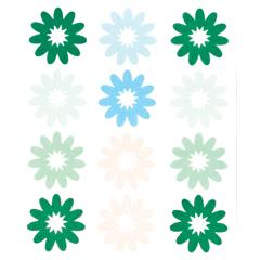 Blue Hills Studio ColorStories Flocked Daisy Stickers Green