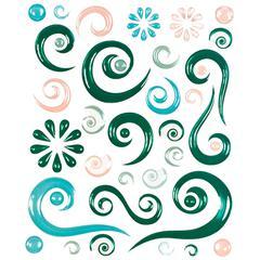 Blue Hills Studio ColorStories Epoxy Swirl Stickers Green