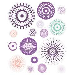 Cardstock Stickers Purple