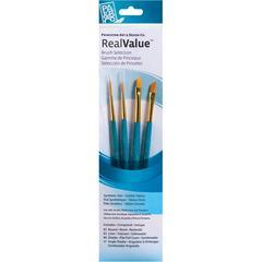 Watercolor Acrylic and Tempera Golden Taklon Brush Set