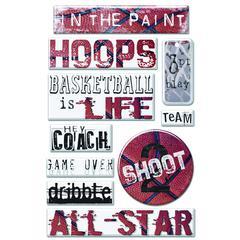 Epoxy Sticker Basketball