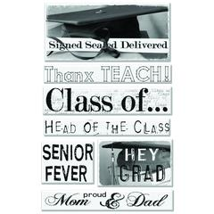 Creative Imaginations Epoxy Sticker Graduation