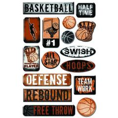 Creative Imaginations Epoxy Sticker Basketball #2