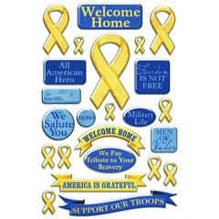 Creative Imaginations Epoxy Sticker Yellow Ribbon