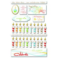 Creative Imaginations Epoxy Sticker Candles & Cake