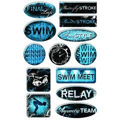 Epoxy Sticker Swimming