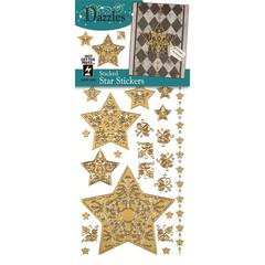 Stickers Gold Stacked Star