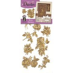 Dazzles Stickers Gold Rose