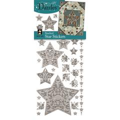Dazzles Stickers Silver Stacked Star