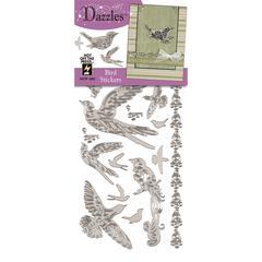 Dazzles Stickers Silver Bird