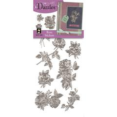 Dazzles Stickers Silver Rose