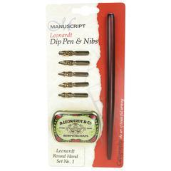 Leonardt Dip Pen & Nibs Round Hand Calligraphy Set 1