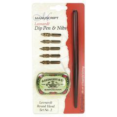 Leonardt Dip Pen & Nibs Round Hand Calligraphy Set 2