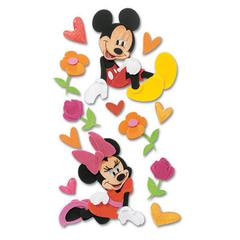 3-D Stickers Mickey & Minnie