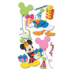 3-D Stickers Mickey & Donald