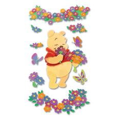 3-D Stickers Winnie The Pooh with Flowers