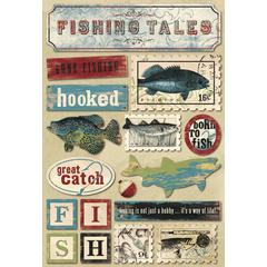 Cardstock Sticker Fishing Tales