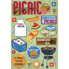 Cardstock Sticker Life's A Picnic