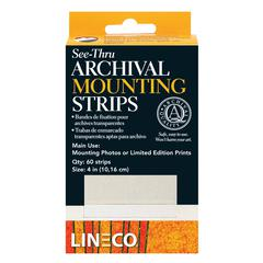 Lineco Archival Mylar See-through Mounting Strips