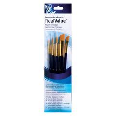 Princeton RealValue Watercolor Acrylic and Tempera Golden Taklon Brush Set